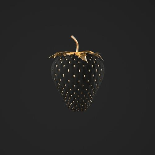 Black & gold strawberry
