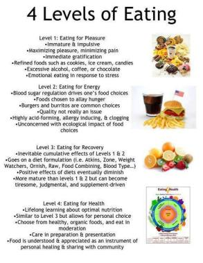 The four levels of eating
