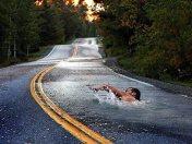 Swimming in oil