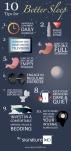 Better sleep infographic