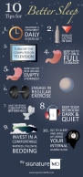 Better sleep infographic