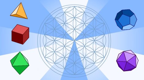 Platonic Solids and Flower of Life